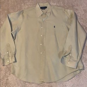 Ralph Lauren Tan Classic Fit Dress Shirt Size xL